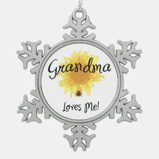Grandma Loves Me Ornament