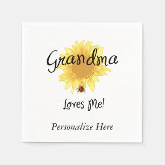 Grandma Loves Me Paper Napkin