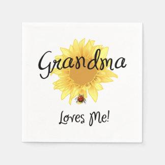 Grandma Loves Me Paper Napkins