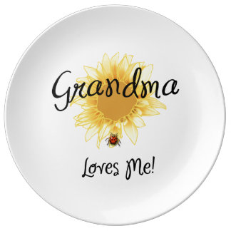 Grandma Loves Me Porcelain Plates