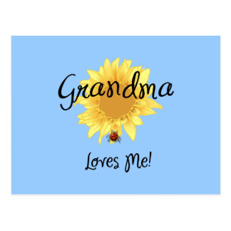 Grandma Loves Me Postcard