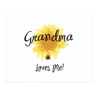 Grandma Loves Me Postcards