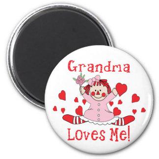 Grandma Love's me Rag Doll Fridge Magnets