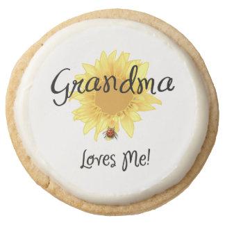 Grandma Loves Me Round Premium Shortbread Cookie
