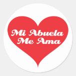Grandma Loves Me Spanish Stickers
