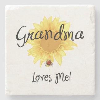 Grandma Loves Me Stone Coaster