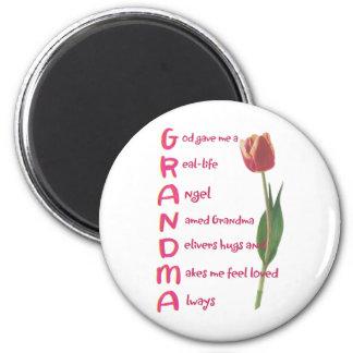 grandma 2 inch round magnet