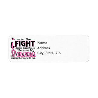 Grandma Means The World To Me Breast Cancer Label
