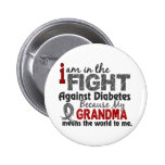 Grandma Means World To Me Diabetes Buttons