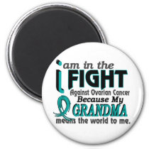 Grandma Means World To Me Ovarian Cancer Magnet