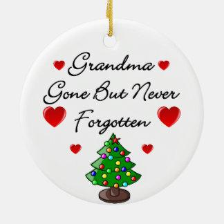 Grandma Memorial Ceramic Christmas Tree Decoration Double-Sided Ceramic Round Christmas Ornament