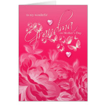 Grandma Mother's Day Card Flowers And Butterflies