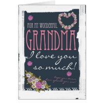 Grandma Mother's day card trendy and modern