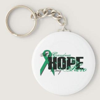 Grandma My Hero - Kidney Cancer Hope Keychain