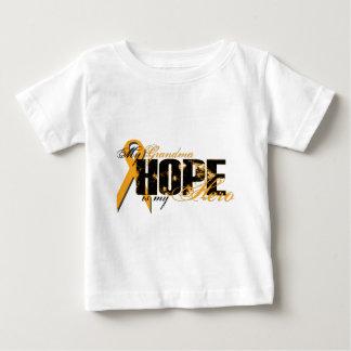 Grandma My Hero - Leukemia Hope Baby T-Shirt