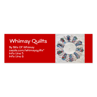 Grandma Nellie's Quilt - Block #1 Double-Sided Mini Business Cards (Pack Of 20)