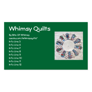 Grandma Nellie's Quilt - Block #1 Double-Sided Standard Business Cards (Pack Of 100)