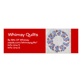 Grandma Nellie's Quilt - Block #3 Double-Sided Mini Business Cards (Pack Of 20)
