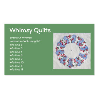 Grandma Nellie's Quilt - Block #3 Double-Sided Standard Business Cards (Pack Of 100)