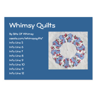 Grandma Nellie's Quilt - Block #3 Large Business Cards (Pack Of 100)