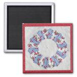 Grandma Nellie's Quilt - Block #3 2 Inch Square Magnet
