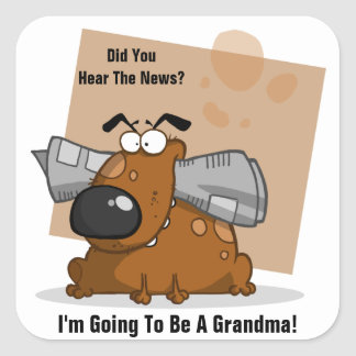 Grandma News (Customizable) Square Sticker