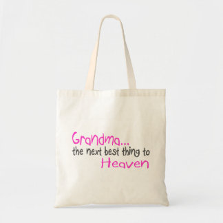 Grandma, Next Best Thing To Heaven Budget Tote Bag
