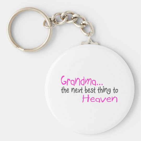 Grandma, Next Best Thing To Heaven Keychain