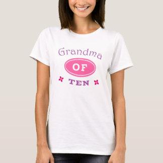 Grandma of 10 T-Shirt