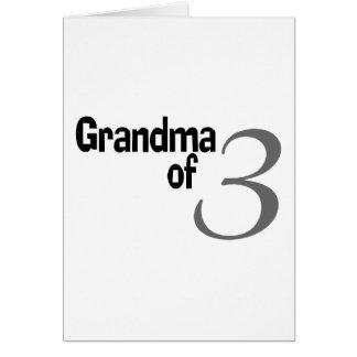Grandma Of 3 Cards