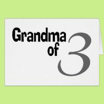 Grandma Of 3 Card