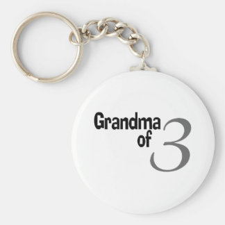 Grandma Of 3 Keychain
