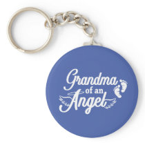 Grandma of an Angel Keychain