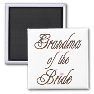 Grandma of Bride Classy Browns 2 Inch Square Magnet
