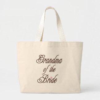 Grandma of Bride Classy Browns Large Tote Bag