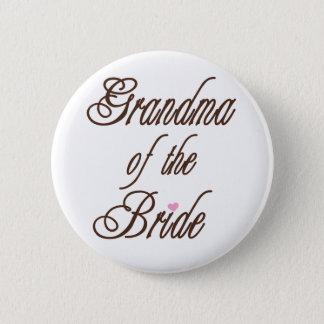 Grandma of Bride Classy Browns Pinback Button