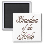 Grandma of Bride Classy Browns Refrigerator Magnet