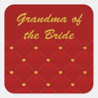 Grandma Of Bride Square Sticker
