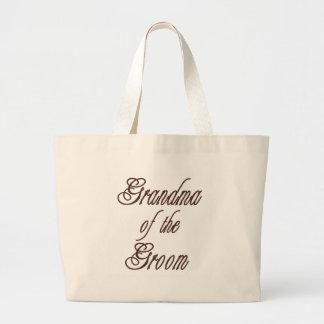 Grandma of Groom Classy Browns Tote Bags