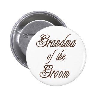 Grandma of Groom Classy Browns Button