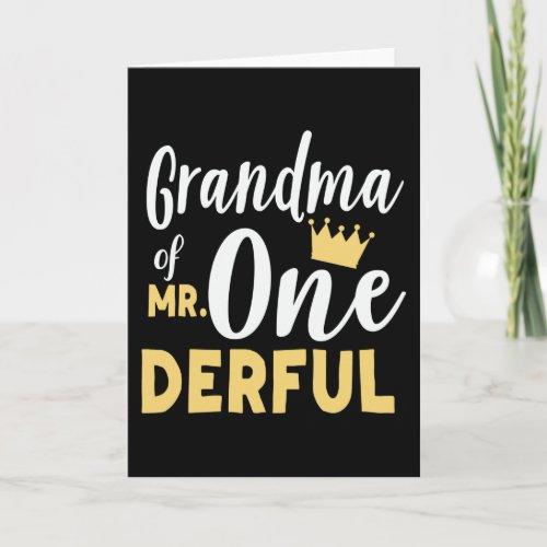 Grandma of Mr Onederful St Birthday Card