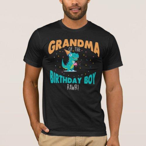Grandma of the Birthday Boy Dinosaur grandmother T_Shirt