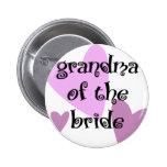 Grandma of the Bride 2 Inch Round Button