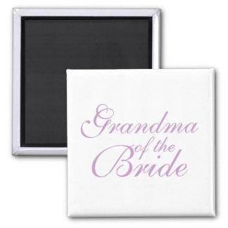 Grandma of the Bride 2 Inch Square Magnet