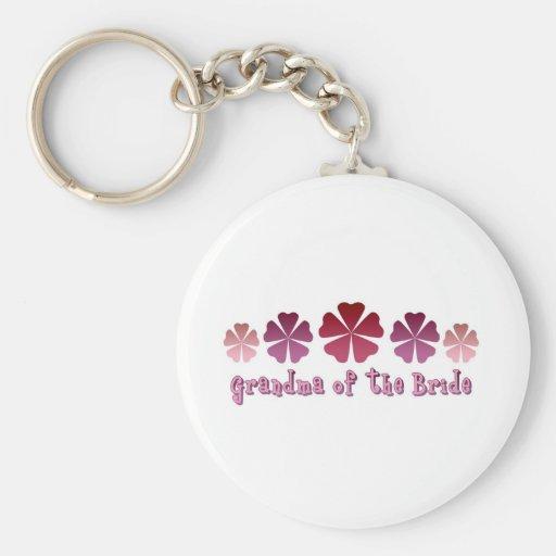 Grandma of the Bride Key Chain