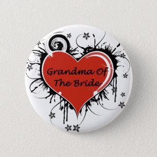 Grandma Of The Bride Pinback Button
