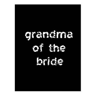 Grandma of the Bride Postcard