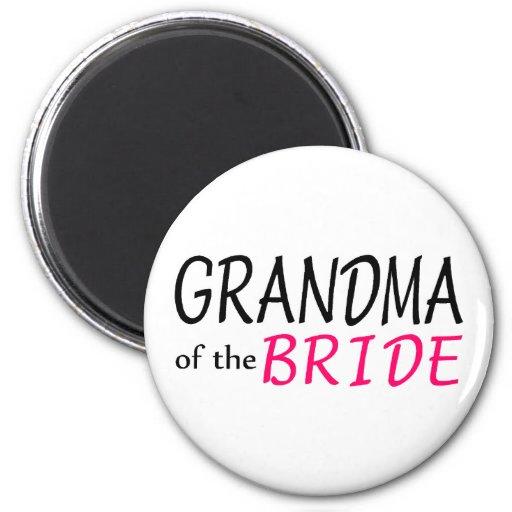 Grandma Of The Bride Refrigerator Magnet