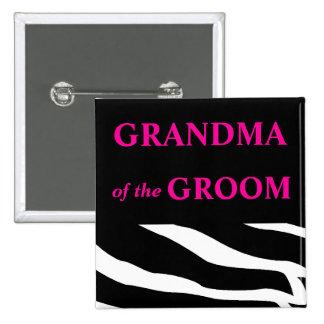 Grandma Of The Groom 2 Inch Square Button