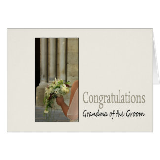 Grandma of the groom wedding congratulations card